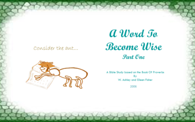 A Word to Become Wise (Proverbs Part 1)