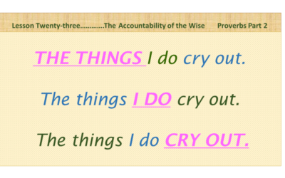 The Accountability of the Wise (Proverbs Part 2)